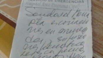 Las lesiones fueron certificadas en el hospital de Cipolletti.