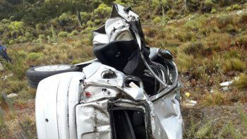 Accidente sobre la Ruta 40.