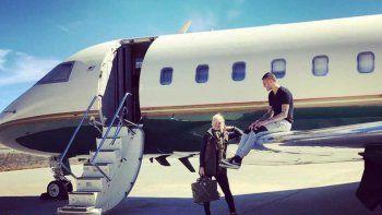 wanda nara se grabo en la cabina del avion durante el aterrizaje