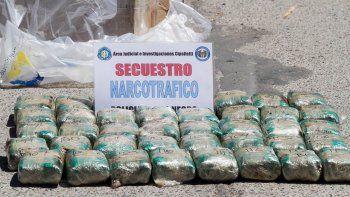 Querían entrar por Centenario con 14 kilos de hojas de coca