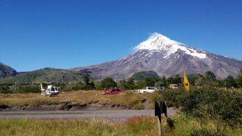 El Lanín seguirá en amarillo y no descartan una erupción