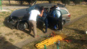tres hombres resultaron heridos tras un accidente