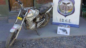 La moto hallada tenía pedido de secuestro.