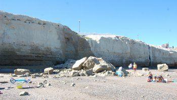 Un nuevo derrumbe que no causó heridos en Las Grutas