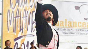 El año pasado, el bailarín había conseguido el subcampeonato en la misma categoría y ya soñaba con consagrarse campeón del clásico festival.