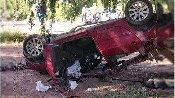 un joven murio tras un violento choque frontal en la ruta 6