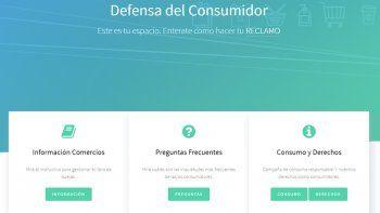 defensa al consumidor ya cuenta con su propia pagina web