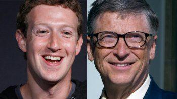 Mark Zuckerberg y Bill Gates siguen firmes entre los más millonarios.
