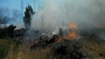 quemaban yuyos en una chacra y desataron un gran incendio en el barrio confluencia