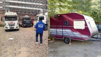 secuestraron contenedores, una casilla y dos vehiculos