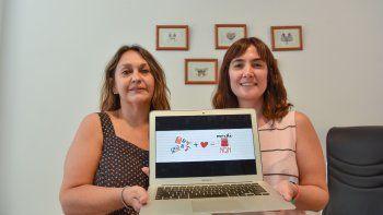 Graciela Flores y María Quintana, impulsoras de esta iniciativa.