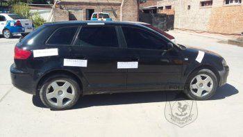 El Audi A3 negro quedó a disposición del Tribunal de Faltas municipal.