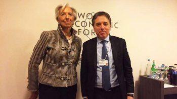El ministro Dujovne y la directora del FMI, Christine Lagarde.