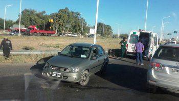 otro accidente en ruta 7: esta vez sin heridos graves