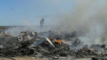 bomberos controlaron un incendio frente al mercado concentrador