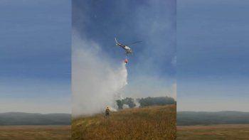 susto por incendio forestal cerca de junin de los andes