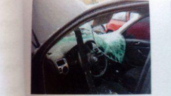Así quedó el VW Bora del juez tras el accidente en la Autovía Norte.