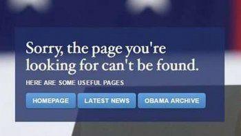 La primera medida en contra de los latinos comenzó por la web oficial.