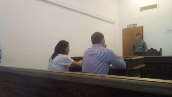Marcela Mora en la audiencia de formulación de cargos.