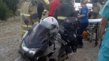 una mujer herida en un accidente sobre la ruta 40