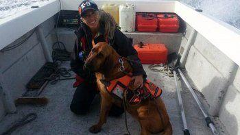 El perro de Parques Nacionales encontró a un turista desaparecido
