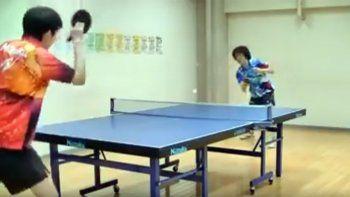 El ping pong como nunca antes lo viste