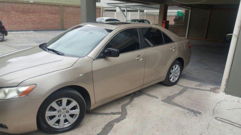 El Toyota Camry que compró Muñoz está guardado en una cochera porque estaba embargado por la AFIP.