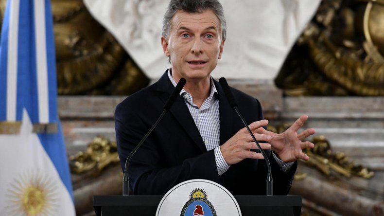 El jefe de Estado brindó una conferencia de prensa en la Casa Rosada.