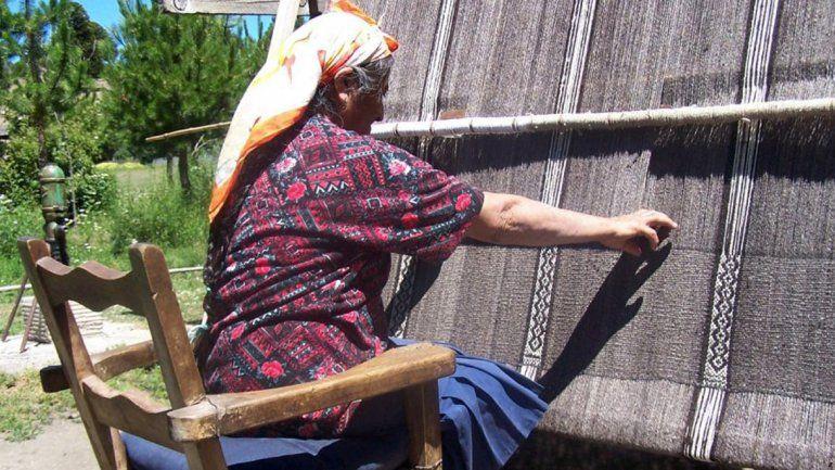 El telar mapuche