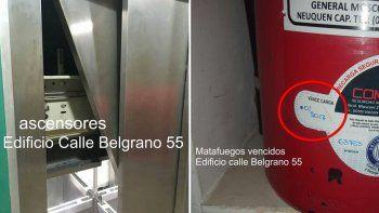 Denuncian malas condiciones de mantenimiento en edificio céntrico