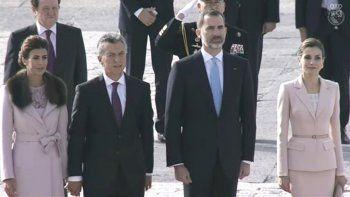 Los reyes de España reciben a Macri y su esposa en Madrid