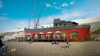 Antes yacía en el cementerio de barcos y ahora será un restaurante.