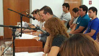 Los acusados durante la audiencia de formulación de cargos.