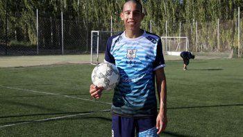 Julián Pino es uno de los chicos de la cantera que entrenan con Primera.