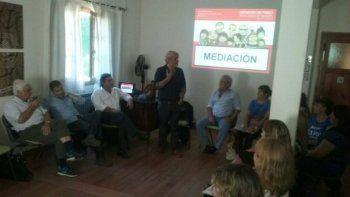 Capacitaron a personal del área educativa en mediación