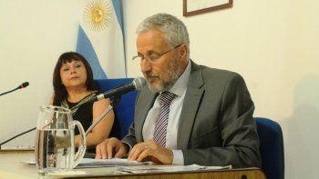 El intendente Andrés Peressini y Edith Cárcamo, presidenta del Concejo Deliberante de Plottier.