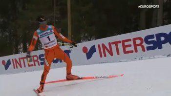 Fue a un mundial de esquí y no conocía la nieve: hizo un papelón