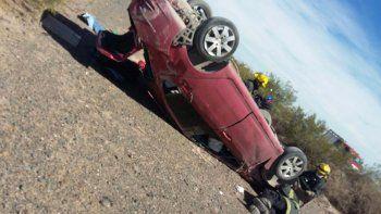 dos personas resultaron heridas tras el choque entre dos autos en la autovia norte