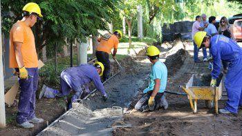 Funcionarios municipales supervisaron ayer las obras.
