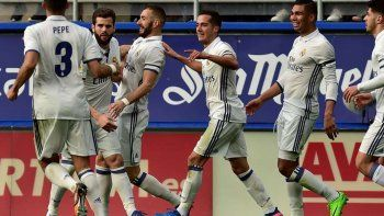 El Real Madrid goleó 4 a 1 y es líder hasta que juegue el Barça