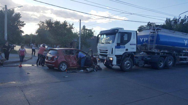 El accidente se produjo en la esquina de Colón y Elordi.