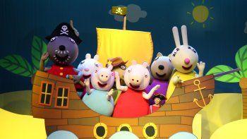Peppa Pig busca su tesoro en el estadio Ruca Che