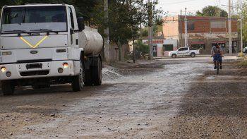 La pavimentación de la Calle 4 favorecerá al transporte público.