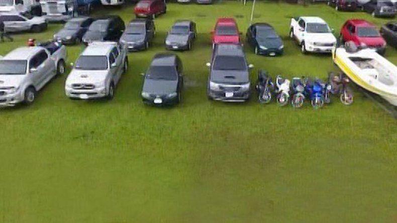 Escándalo narco: secuestraron autos, lanchas y armas