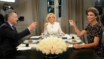 Mirtha volvió a la tele y cenó con Macri y Awada en Olivos