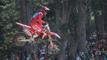 Tim Gajser ganó la primera carrera en Villa La Angostura