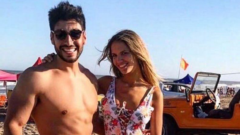 Fugaz. Moyano y Eva Bargiela confirmaron su relación a fines de enero.