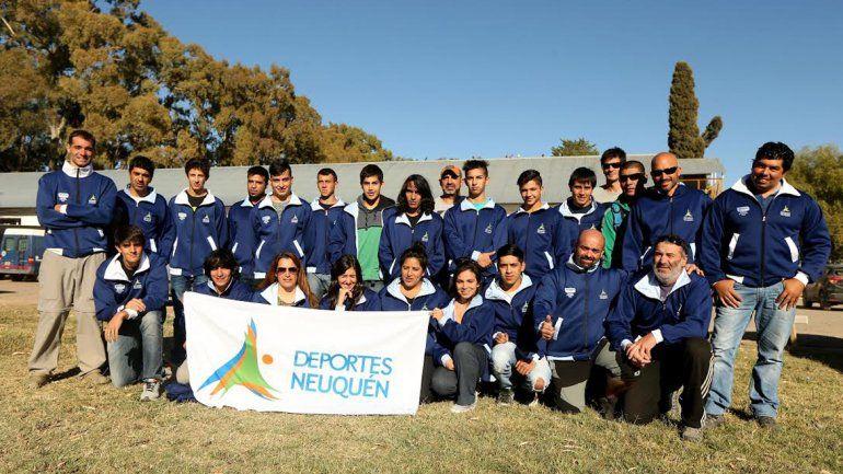La delegación local que compitió en Mendoza.