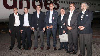 Bautismo. El ministro Guillermo Dietrich estuvo en la inauguración de los vuelos de Andes de las rutas adjudicadas.