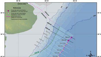 aprueban la extension de la plataforma continental argentina
